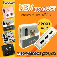 POWER BANK LED CARTOON 8000mAh
